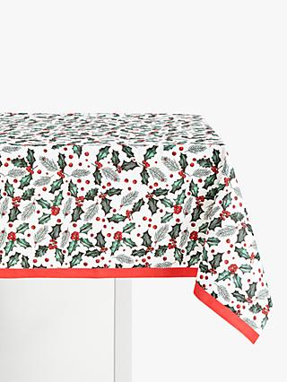 John Lewis & Partners Holly Sprig Christmas Disposable Table Cover