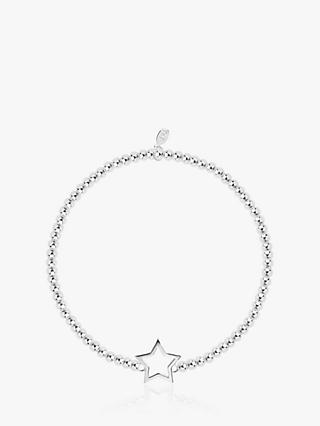 Joma Jewellery Christmas Cracker Star Bracelet, Silver