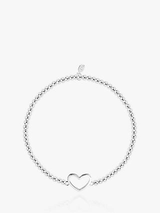 Joma Jewellery Christmas Cracker Heart Bracelet, Silver