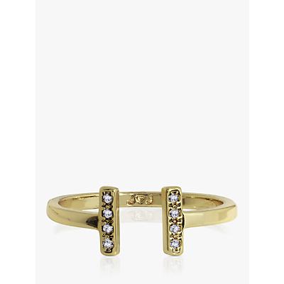 Joma Jewellery Aztec Bar Open Ring, Gold