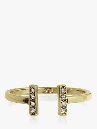 Joma Jewellery Aztec Bar Open Ring, Gold
