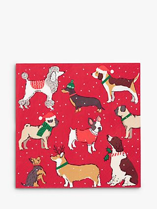 Talking Tables Christmas Hounds Disposable Napkins, Pack of 20