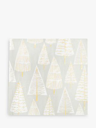 Talking Tables Metallic Christmas Tree Disposable Napkins, Pack of 16