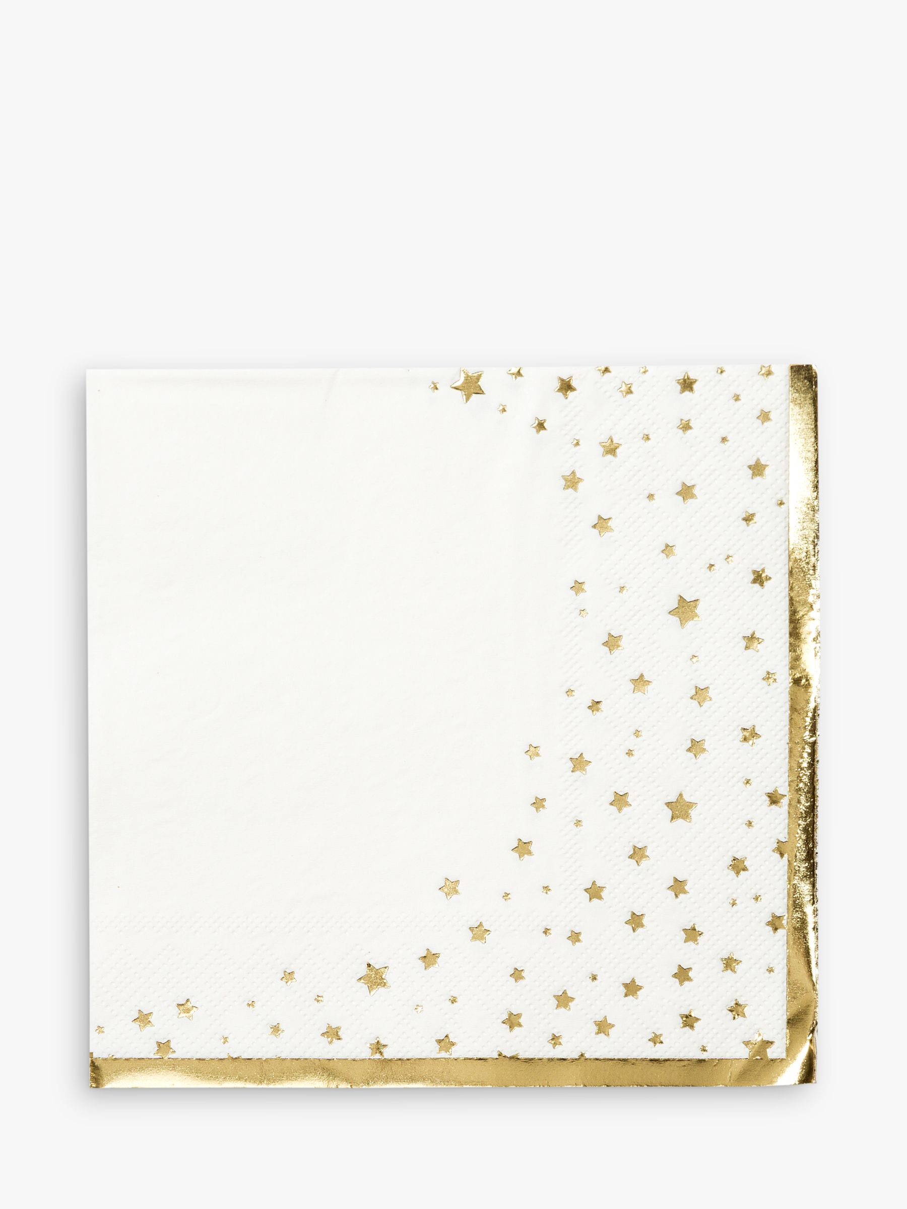 Talking Tables Talking Tables Gold Star Disposable Napkins, Pack of 16