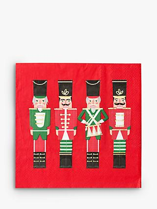 Talking Tables Nutcracker Christmas Disposable Napkins, Pack of 16