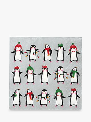 Talking Tables Penguin Pride Christmas Disposable Napkins, Pack of 20