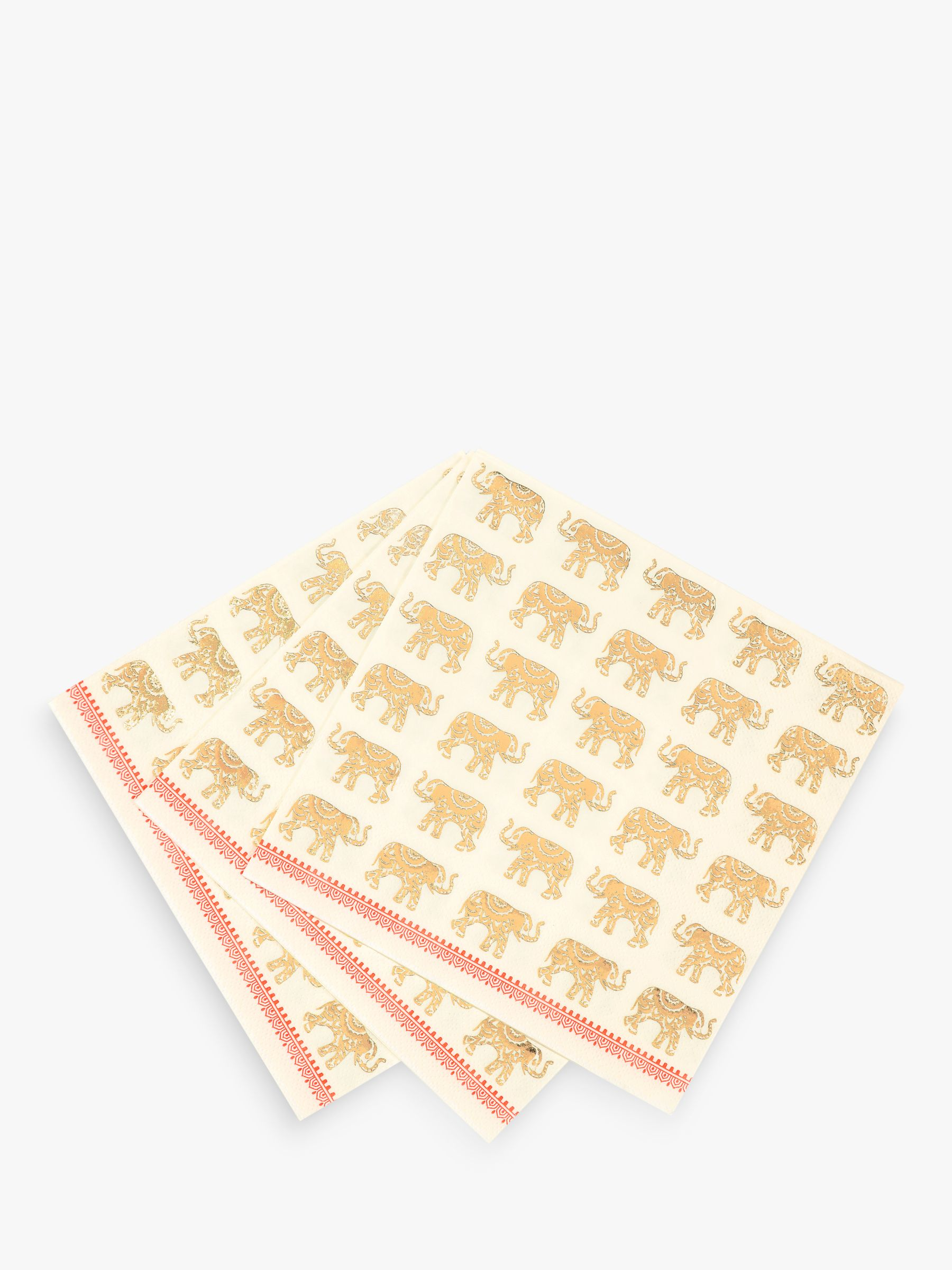 Talking Tables Talking Tables Elephant Disposable Napkins, Pack of 16
