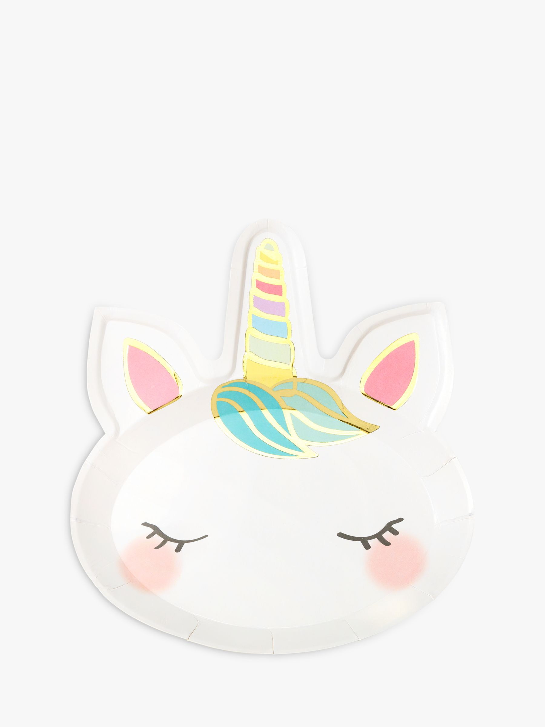 Talking Tables Talking Tables Unicorns Disposable Plates, Pack of 8