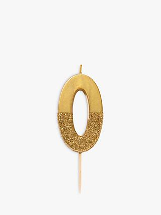 Talking Tables Gold Glitter Number Birthday Candle
