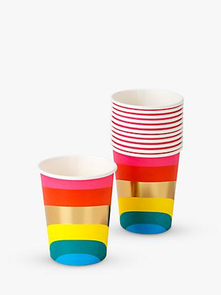 Talking Tables Foil Rainbow Disposable Cups, 250ml, Pack of 12