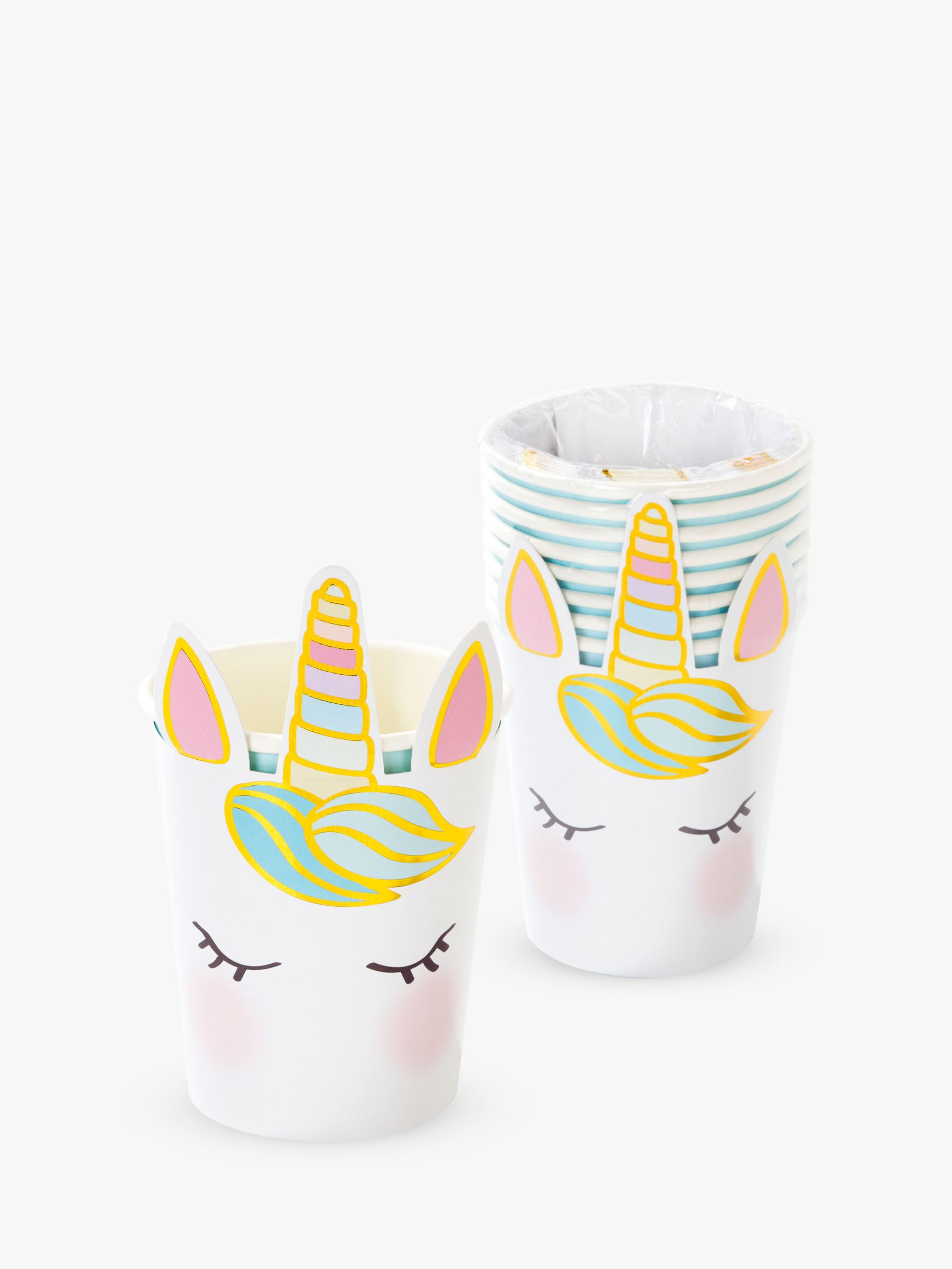 Talking Tables Talking Tables Unicorn Disposable Cups, Pack of 8