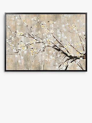 Asia Jensen - Apple Blooms Framed Canvas, 74.5 x 104.5cm, Yellow/White