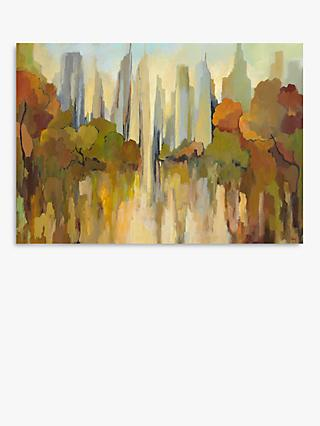 Gregory Lang - City Park Canvas Print, 70 x 100cm, Brown/Multi