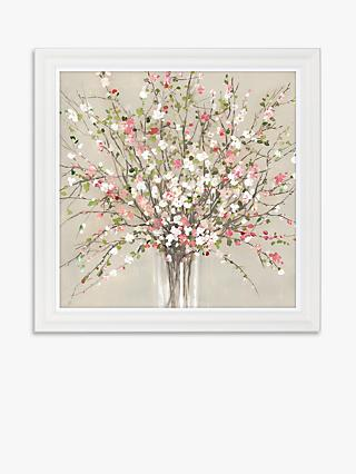 Asia Jensen - Peach Blossom Hand-Finished Framed Floral Print, 81 x 81cm, Pink/Multi