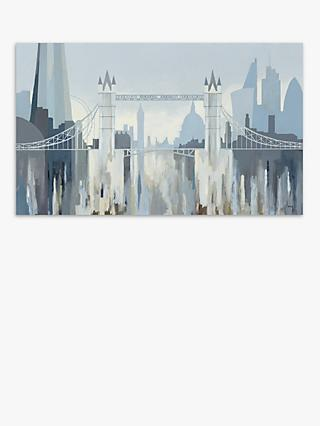 Gregory Lang - Tower Bridge Canvas Print, 60 x 100cm, Grey