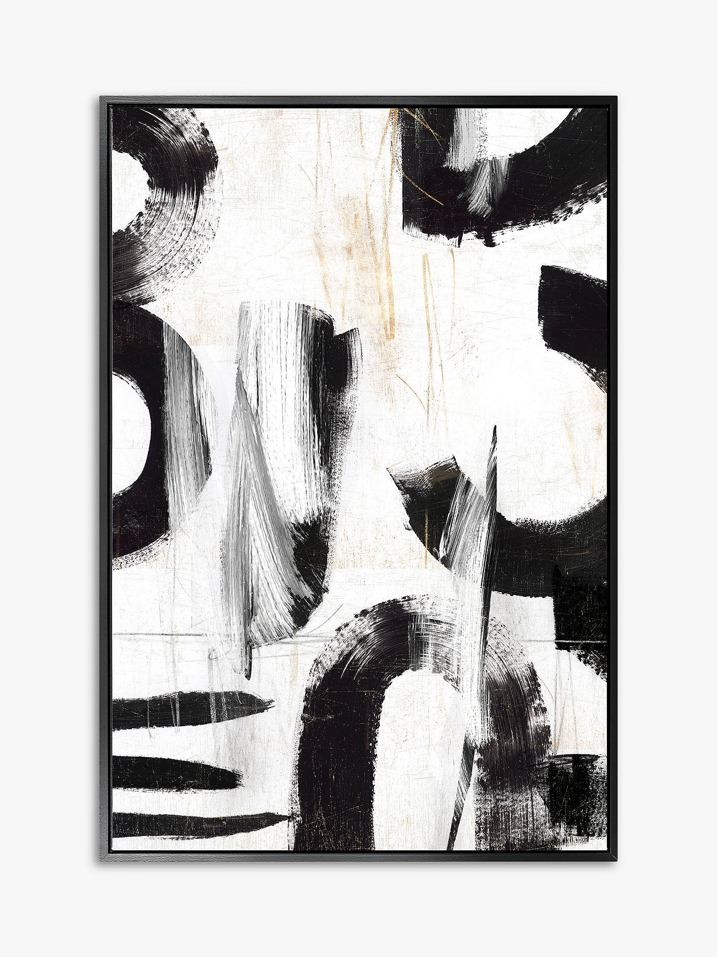 Concept Iii Abstract Framed Canvas Print 124 5 X 84 5cm Black White