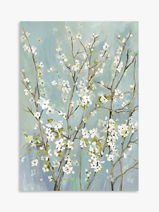 Asia Jensen - Almond Blossoms Framed Canvas, 104.5 x 74.5cm, Teal/Multi
