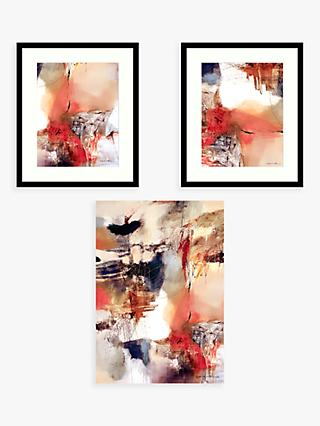 Natasha Barnes - 'At Play' Abstract Prints, Set of 3, Blush