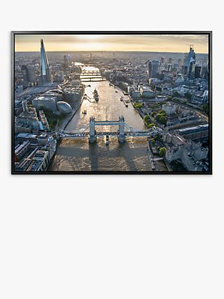 Jason Hawkes - London Aerial View Framed Canvas Print, 74.5 x 104.5cm, Multi