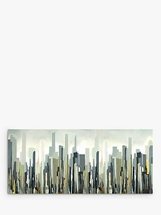 Gregory Lang - Silver Skyline Framed Canvas, 60 x 135cm, Sulphur/Multi