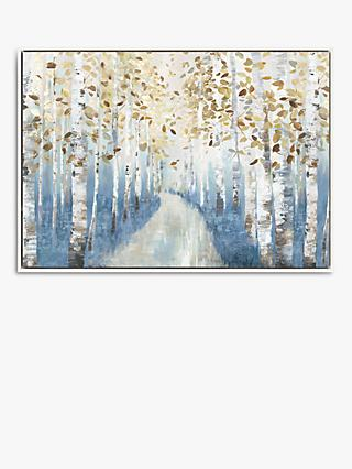 Allison Pearce - New Path I Framed Canvas Print, 74.5 x 104.5, Blue/Multi