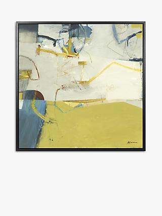 Alice Sheridan - Abstract IV Framed Canvas Print, 84.5 x 84.5, Citrine/Multi