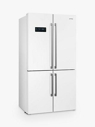 Smeg FQ60B2PE1 4-Door American-Style Freestanding 60/40 Fridge Freezer, A++ Energy Rating, 91cm Wide, White