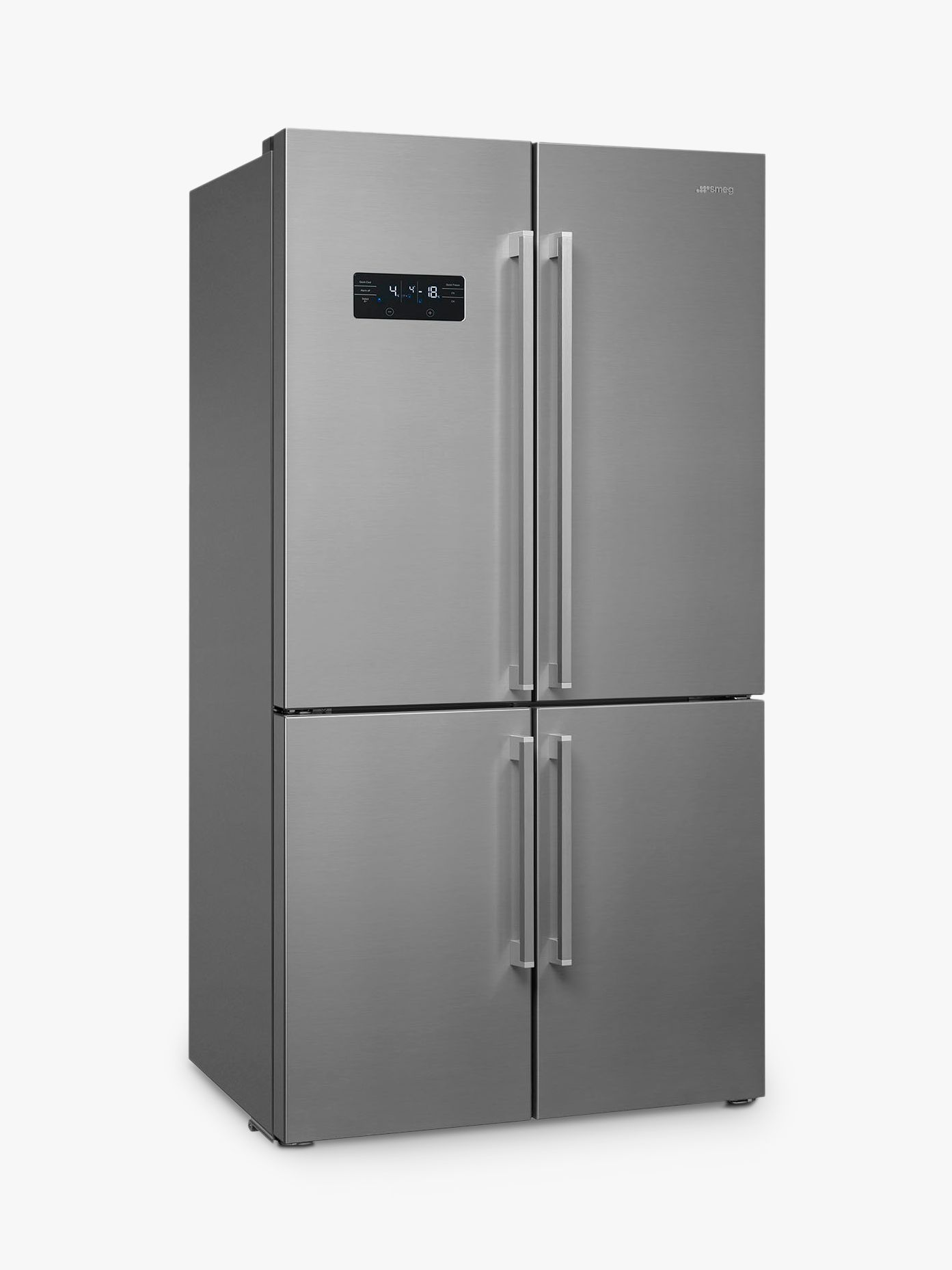 Smeg Smeg FQ60X2PEAI 4-Door American Style Fridge Freezer, A++ Energy Rating, 90.8cm Wide, Stainless Steel