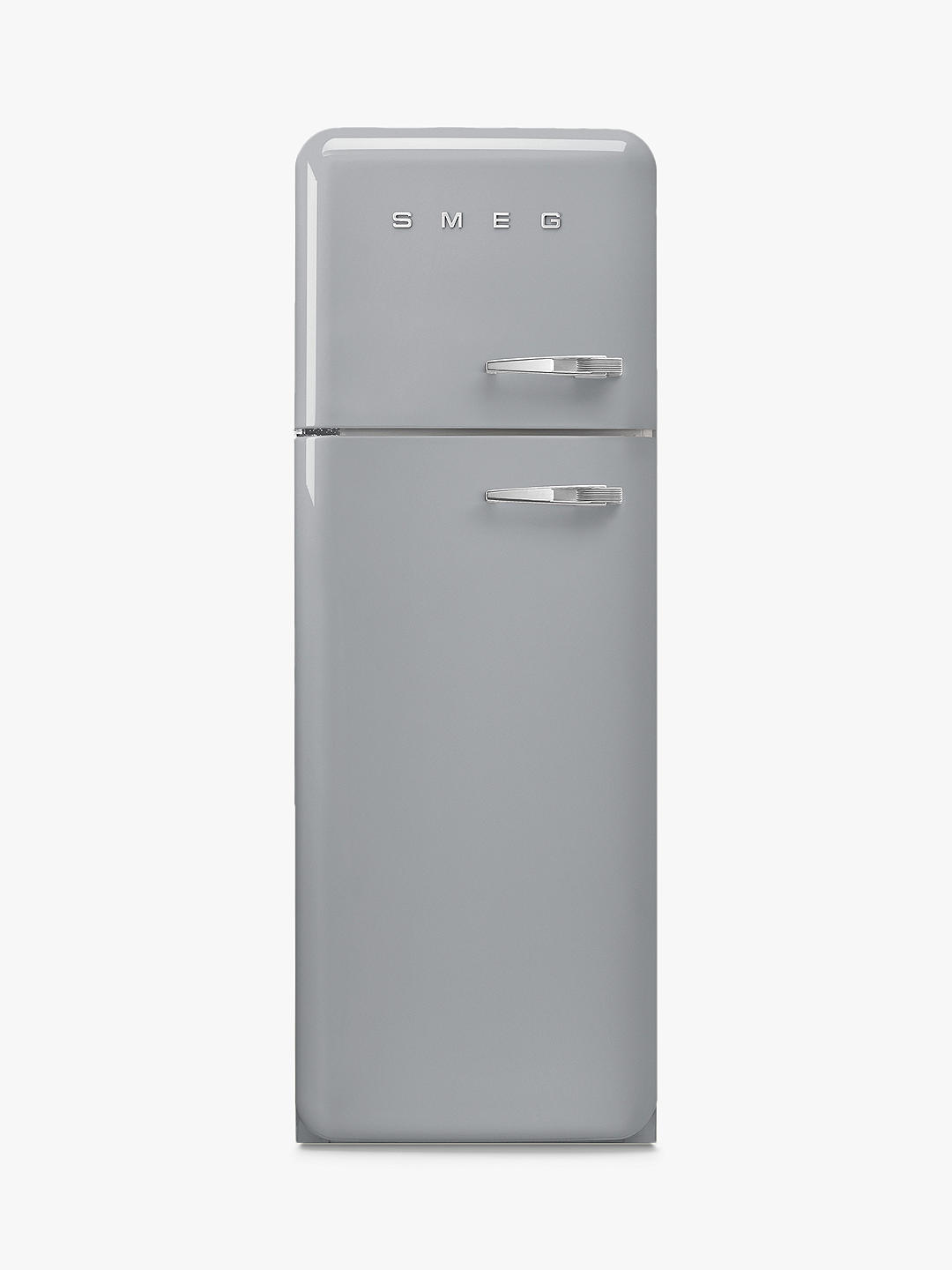 Buy Smeg FAB30L Freestanding 70/30 Fridge Freezer, A+++ Energy Rating, Left-Hand Hinge, 60cm Wide, Silver Online at johnlewis.com