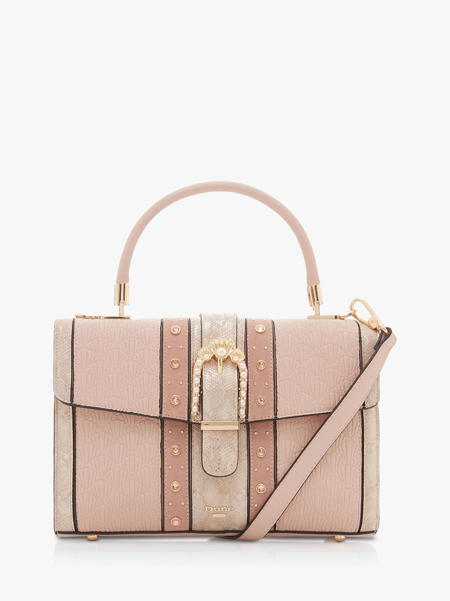 1d4154c75cce Dune Dariel Embellished Shoulder Bag, Light Pink