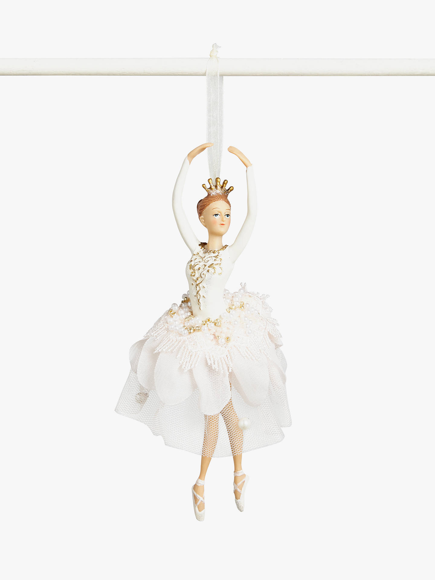 Buy John Lewis & Partners Sanctuary Ballerina Tree Decoration, Pink Online at johnlewis.com