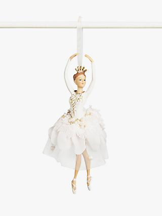 John Lewis & Partners Sanctuary Ballerina Tree Decoration, Pink