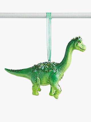 John Lewis & Partners ABC Brontosaurus Dinosaur Tree Decoration, Green