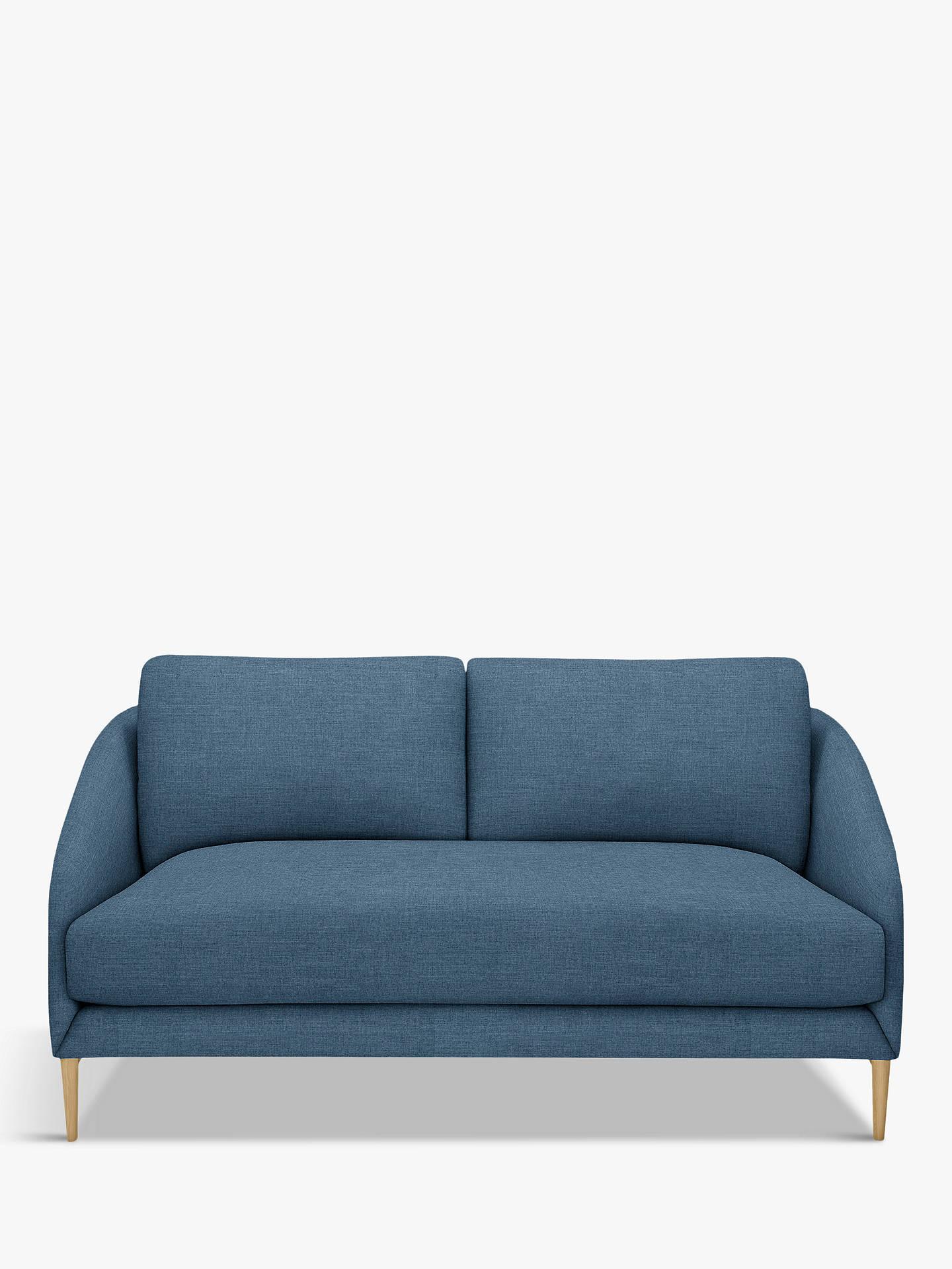 John Lewis Partners Cape Small 2 Seater Sofa Light Leg Hatton Dark Pacific