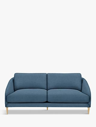 John Lewis & Partners Cape Large 3 Seater Sofa, Light Leg, Hatton Dark Pacific