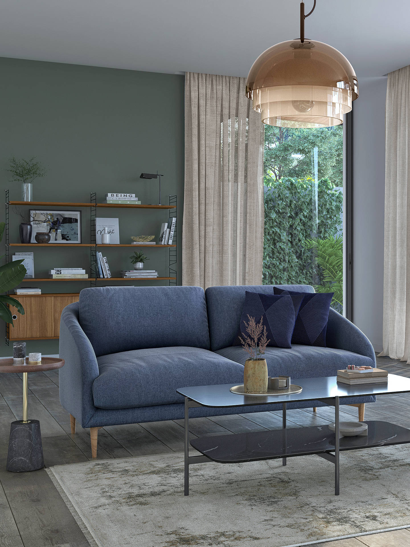 Buy John Lewis & Partners Cape Medium 2 Seater Sofa, Light Leg, Hatton Dark Pacific Online at johnlewis.com