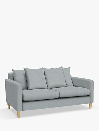John Lewis & Partners Bailey Medium 2 Seater Sofa, Light Leg, Hatton Light Grey