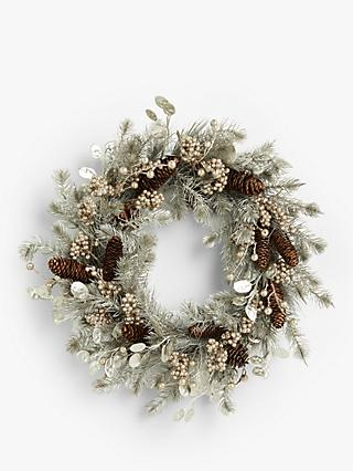 Non Christmas Winter Wreaths.Christmas Wreaths Garlands Buy Wreaths At John Lewis
