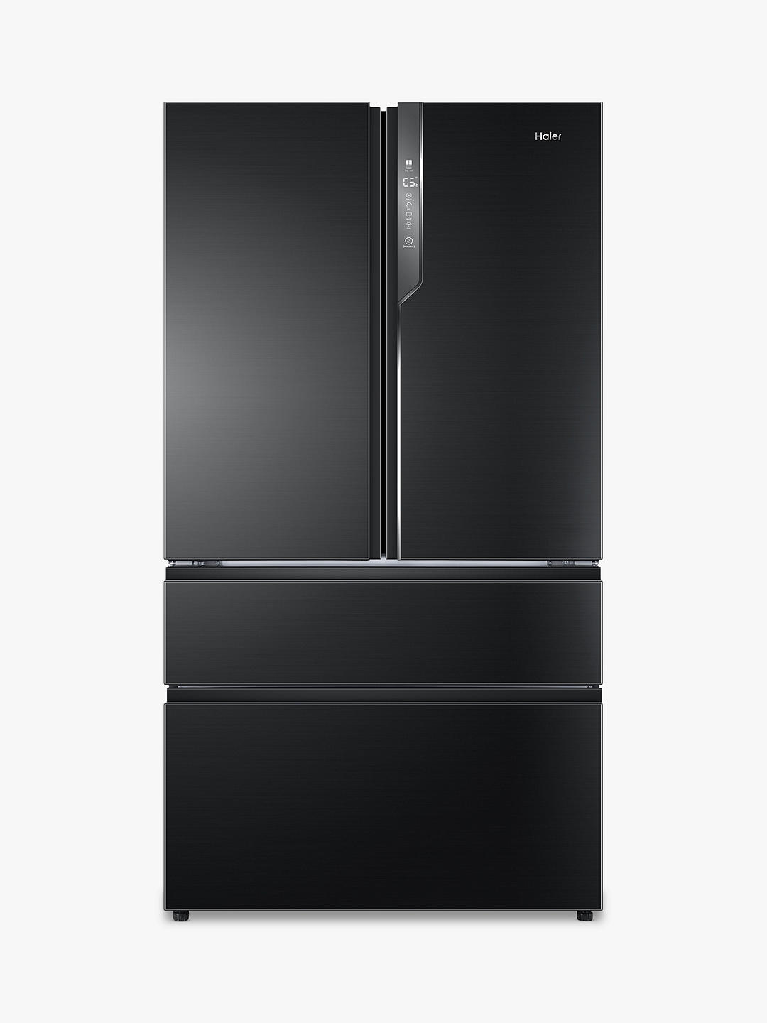Buy Haier HB26FSNAAA American-Style Freestanding 65/35 Fridge Freezer, A++ Energy Rating, 100.5cm Wide, Graphite Steel Online at johnlewis.com
