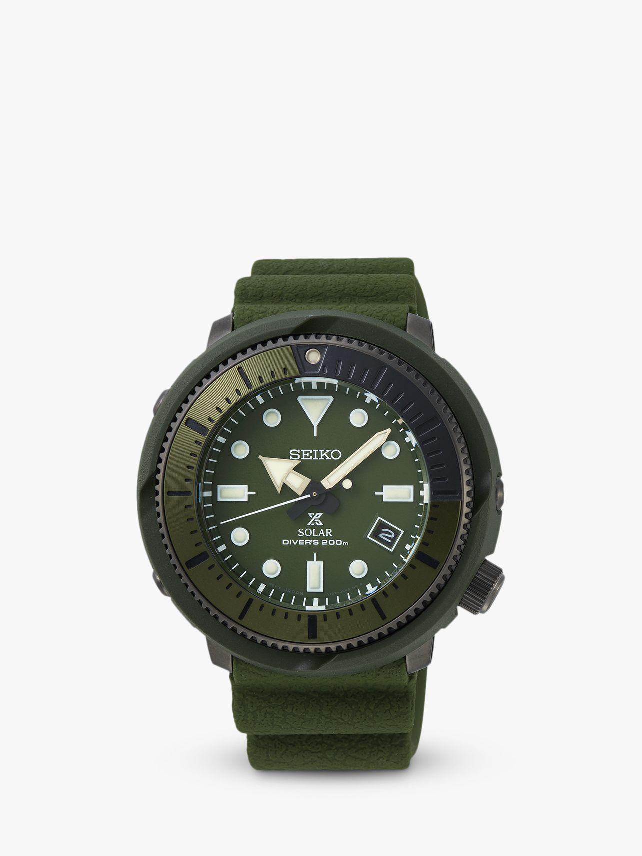 Seiko Seiko Men's Prospex Date Silicone Strap Watch