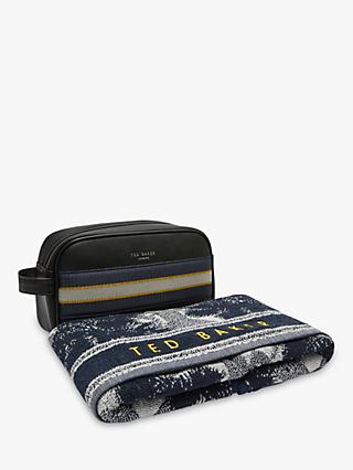 Ted Baker Wash Bag and Towel Set, Blue