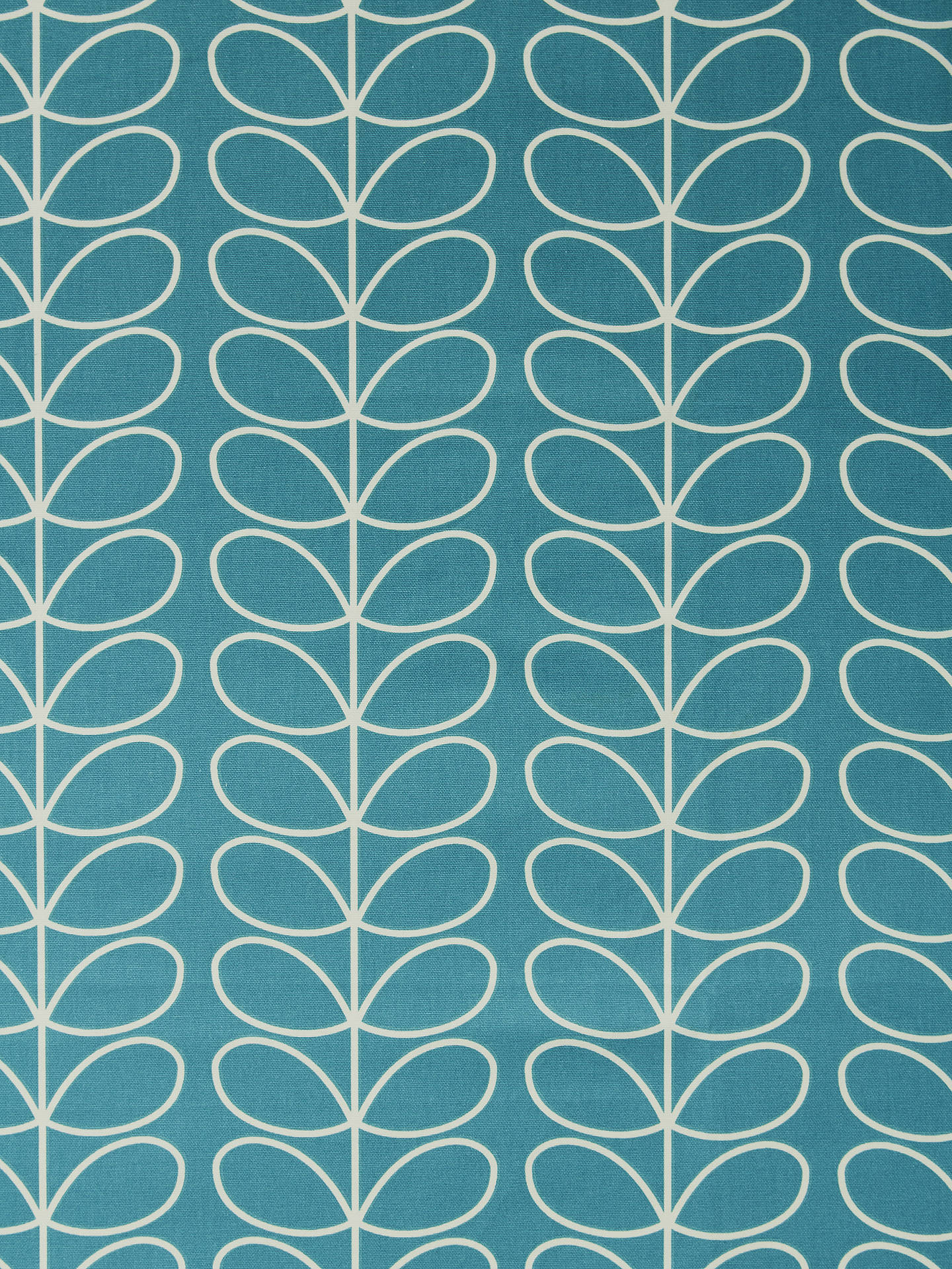 Buy Orla Kiely Linear Stem Furnishing Fabric, Deep Duck Egg Online at johnlewis.com
