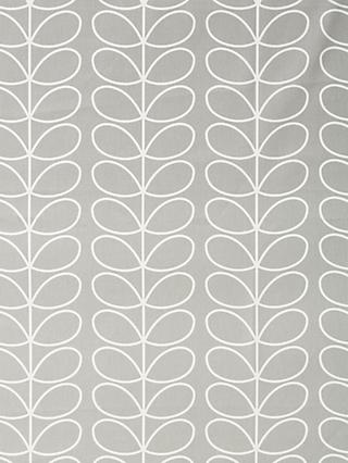 Orla Kiely Linear Stem Made to Measure Curtains or Roman Blind, Silver