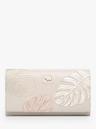 Radley Palms Leather Large Matinee Purse, Grey