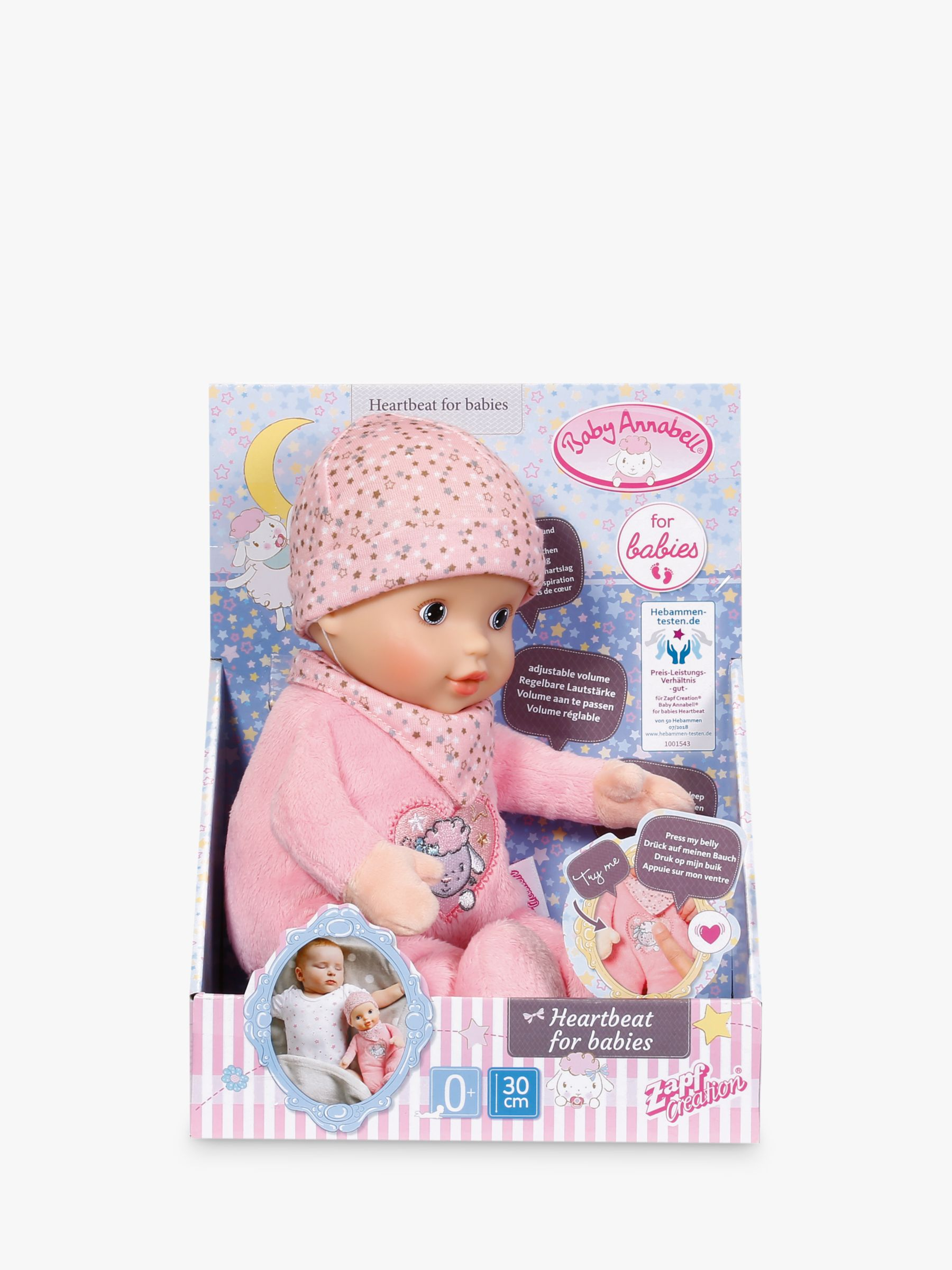 Zapf Zapf Baby Annabell Newborn Heartbeat Doll