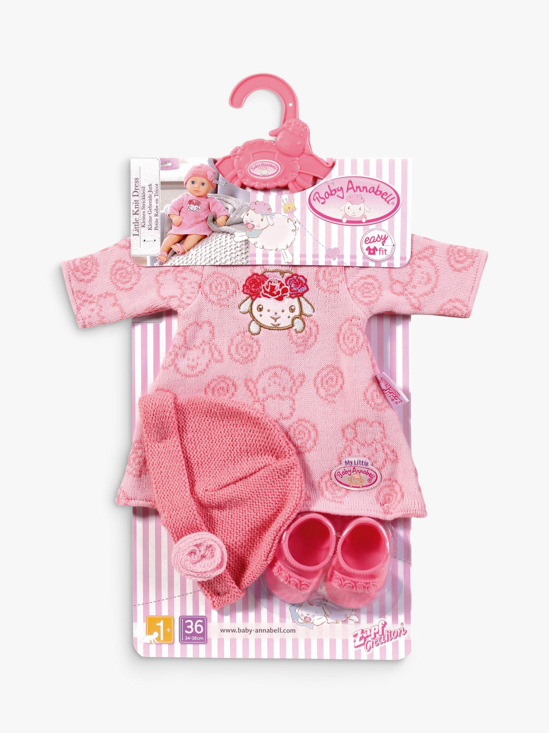 Zapf Zapf My First Baby Annabell Little Knit Doll Dress