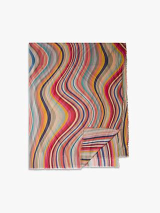 Paul Smith Large Swirl Stripe Scarf, Multi