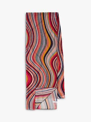 Paul Smith Diagonal Swirl Stripe Scarf, Multi