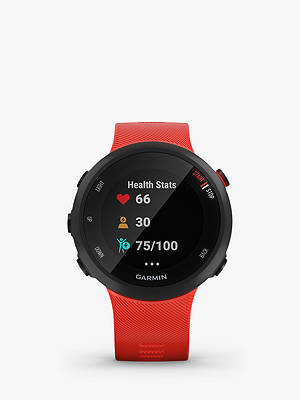 Buy Garmin Forerunner 45 with Wrist-based Heart Rate Technology, Large, Black/Lava Red Online at johnlewis.com