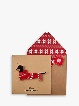 Tache Crafts Dachshund Christmas Card